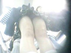 Miniskirt panties backlight
