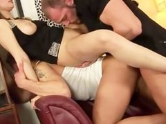 Mmf horny bi threesome sucking and fucking