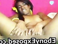 Beautiful ebony chick fingering pussy part5