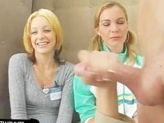 Blondes loves to watch a hard cock