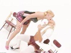 Schoolgirls eating anal cunts