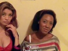 Two hot slutty teens earn cash for a threesome