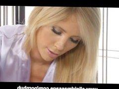 Big Tit Blonde Lesbian Double Dildo Massage