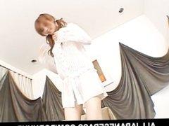 Rika Sakurais hairy pussy gets a workout when her man fucks her