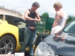 Blond dude gets stinker banged in car part6