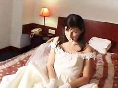 smoking sexy bride