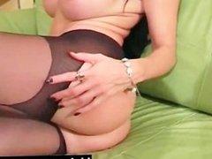 Busty lesbian feet licking