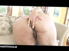 Black BBW self pussy smelling and masturbating