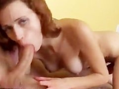 redhead rides guy and then he cums