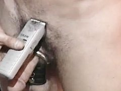 collared hunk is shaved