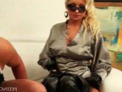 Hot blonde fucking and sucking dick
