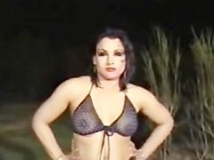 Muslim Paki Mujra Dancer gyrating in transparent Black Shalwar to Music
