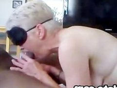 Blindfolded white mature gets anal by bbc