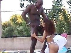Arab Waitress tight West Asian Pussy stretched by Big Black Sudanese Penis