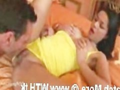 Hot Wife Hardcore Sex on Bed