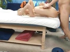 Horny blonde teenage babe gets part5