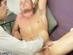 Blonde hunky dude gets his cock jerked part3