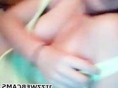 Blonde BBW Suck BFs Dick On Webcam