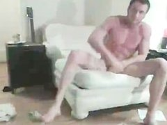 Bearded Hunk Strips And Masturbates 1 part5