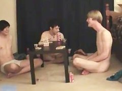 Super hot gay teens having a game party part4