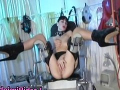Horny lesbian in stockings gets double part4