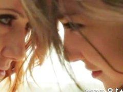 Lesbian love between unbelievable teens