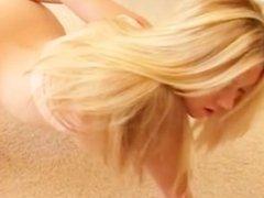 young blonde self pleasuring