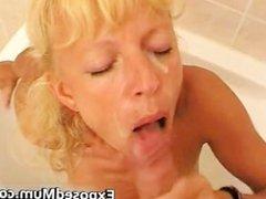 Amateur housewife sucking off stiff part3