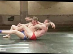 Big boys fight and fuck