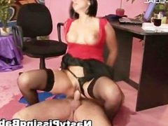 Slut in stockings gets pissed in her part4