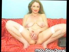 Stunning MILF with big boobs teasing