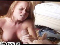 Redhead sucks off dude in hotel
