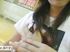 Japan cherry boy schoolgirl breast playtime subtitled