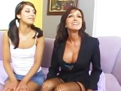 a MILF And a Teen Share A Hot Nob