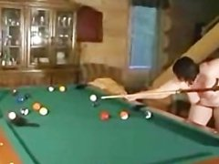 Pussy BBW plays on pool table 1
