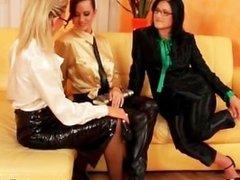 Hot lesbian girls are touching part2