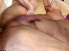 Straight guy ass fucks hot gay masseuse