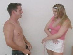 Cute Brandon Is Pegged By The StrapOnPrincess and I make Him Eat His Cum