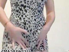 Girl Dancing On Webcam