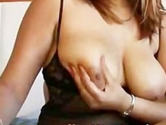 indian girl nice tits works a cock to cum