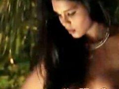 indian beauty saree striptease