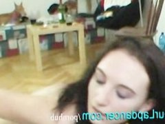 Czech student does sexy naked lapdance