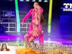 Eduman-Private.com - Sherlyn Upskirts Vestido Rosa Bailando Teleton