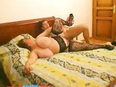 BBW mature gets fucked after party