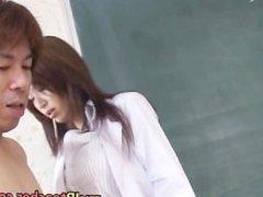 Mai Hanano Sexy Japanese teacher fucked part5