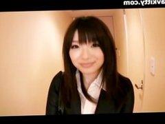 Amateur Japanese Office Girl Sucks Cock