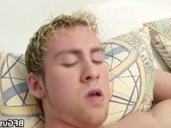 Blonde Conner gets his jizzster part2