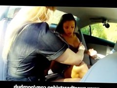 Big Tit Blonde MILF and Teen Lesbian Fingering
