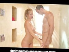 Blonde Teen Casi James Nuru Massage and Blowjob