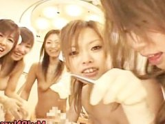 Asian nurses give massive blowjob part5